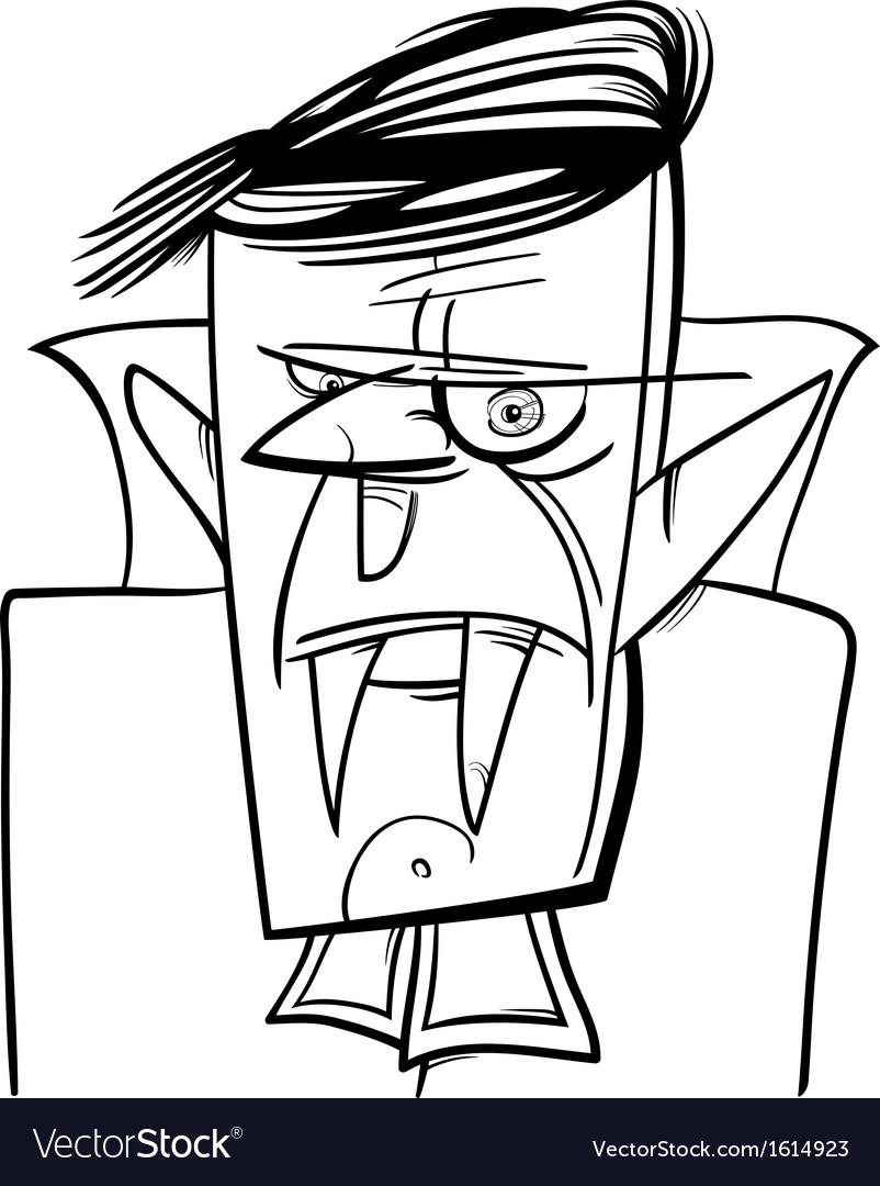 Halloween vampire cartoon vector | Price: 1 Credit (USD $1)