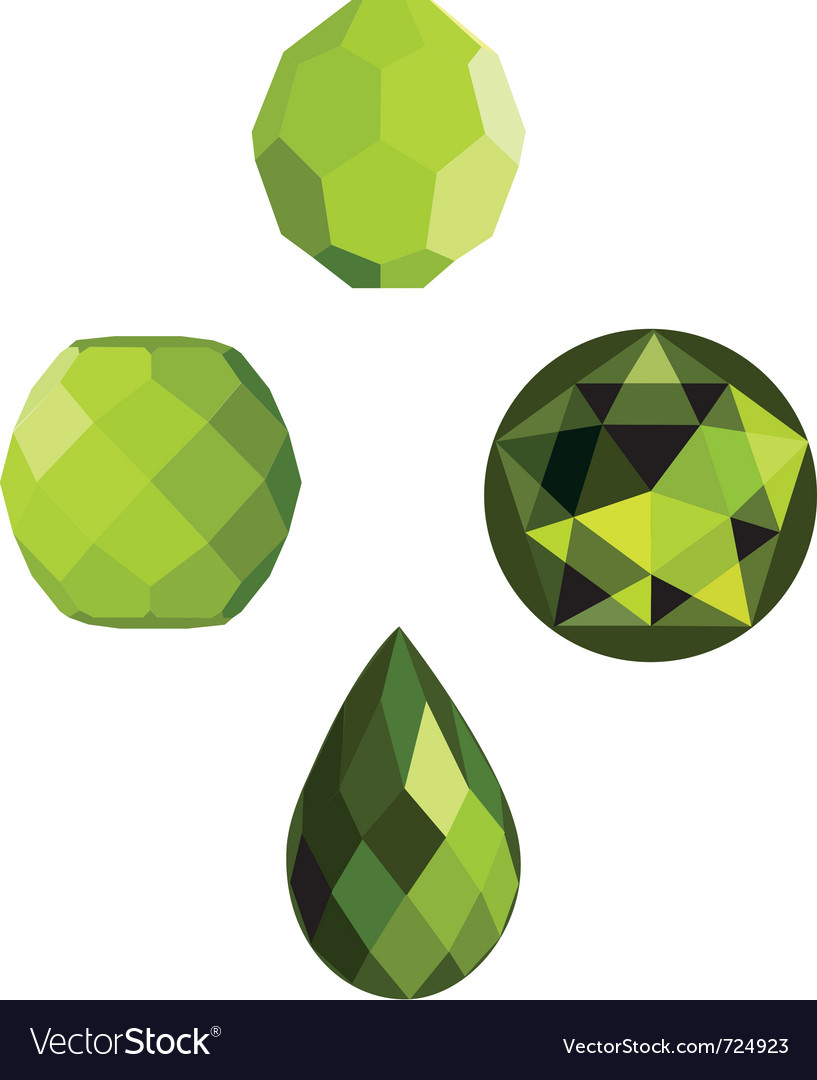 Lime crystal faceted beads vector | Price: 1 Credit (USD $1)