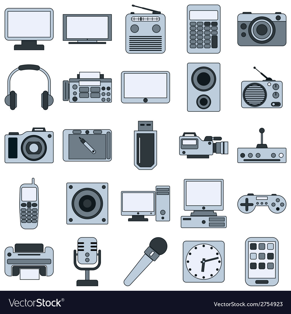 Modern electronic icons vector | Price: 1 Credit (USD $1)