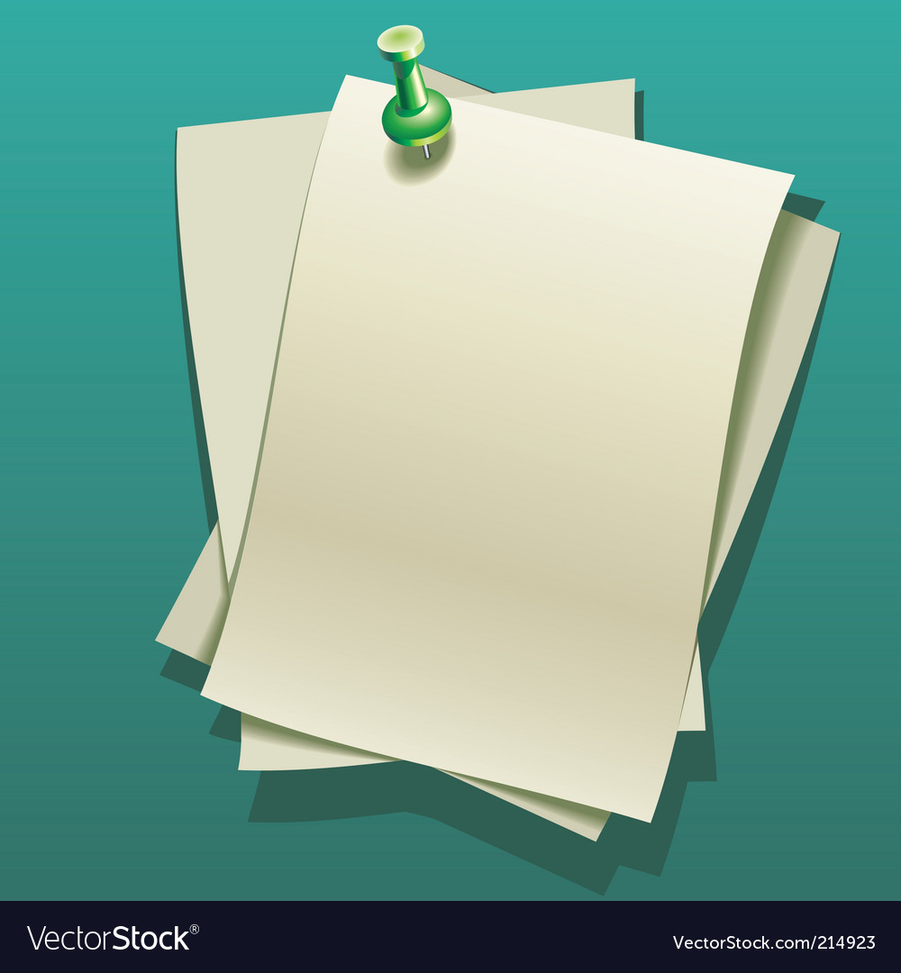 Notepaper sheets vector | Price: 3 Credit (USD $3)