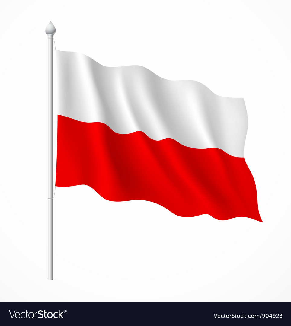 Poland flag vector | Price: 3 Credit (USD $3)