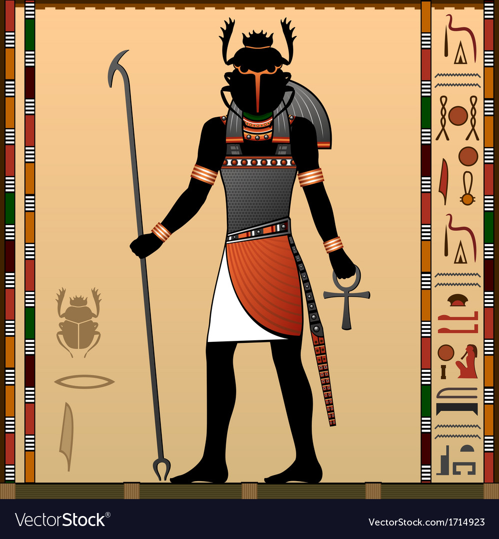 Religion of ancient egypt vector | Price: 1 Credit (USD $1)