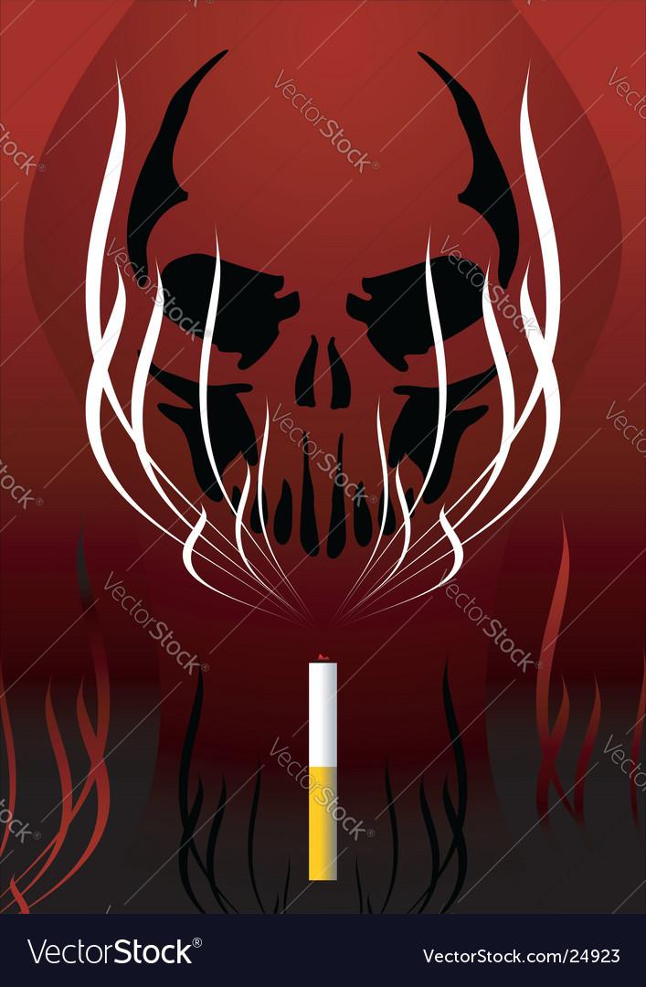 Smoke warning vector | Price: 1 Credit (USD $1)