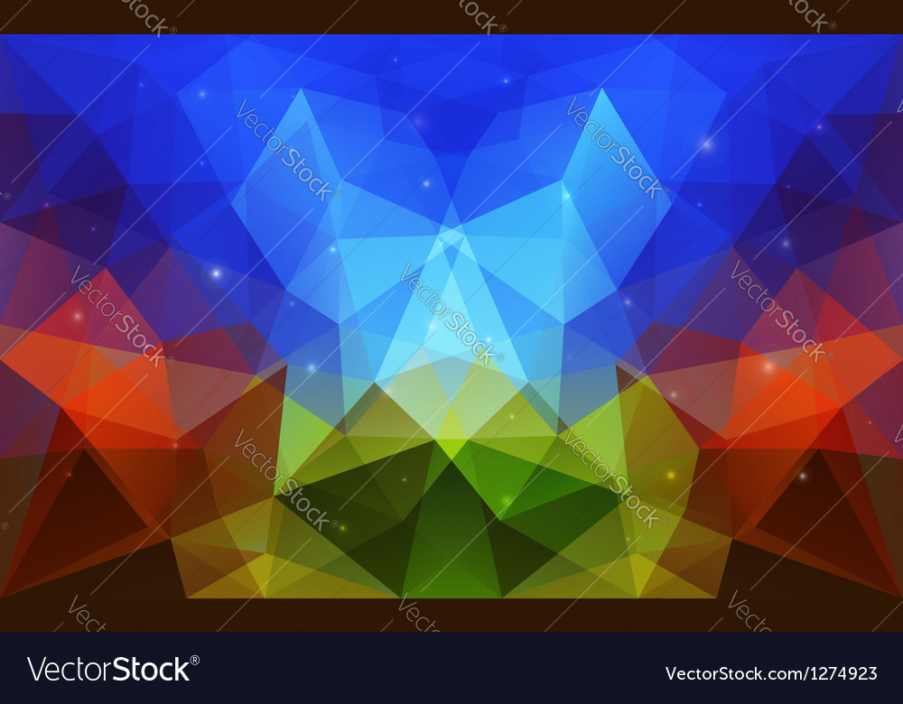Triangular abstract colorful texture vector | Price: 1 Credit (USD $1)