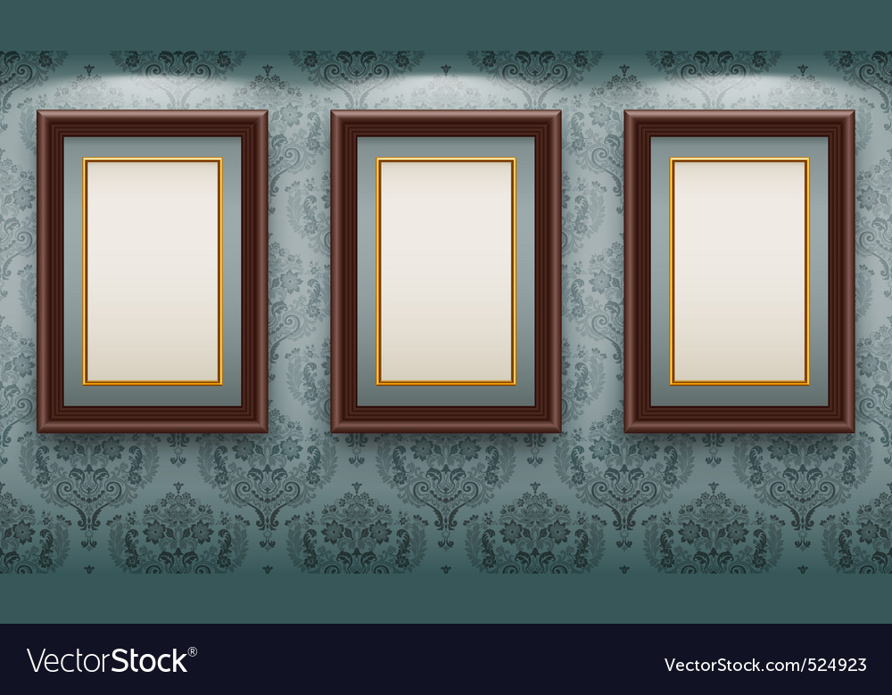 Wooden frames on the wall vector | Price: 3 Credit (USD $3)