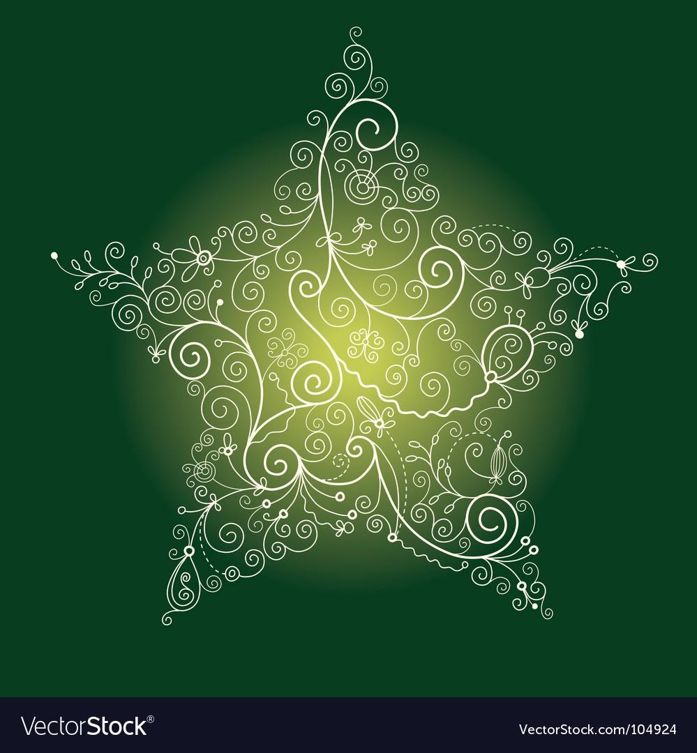 Christmas star vector | Price: 1 Credit (USD $1)