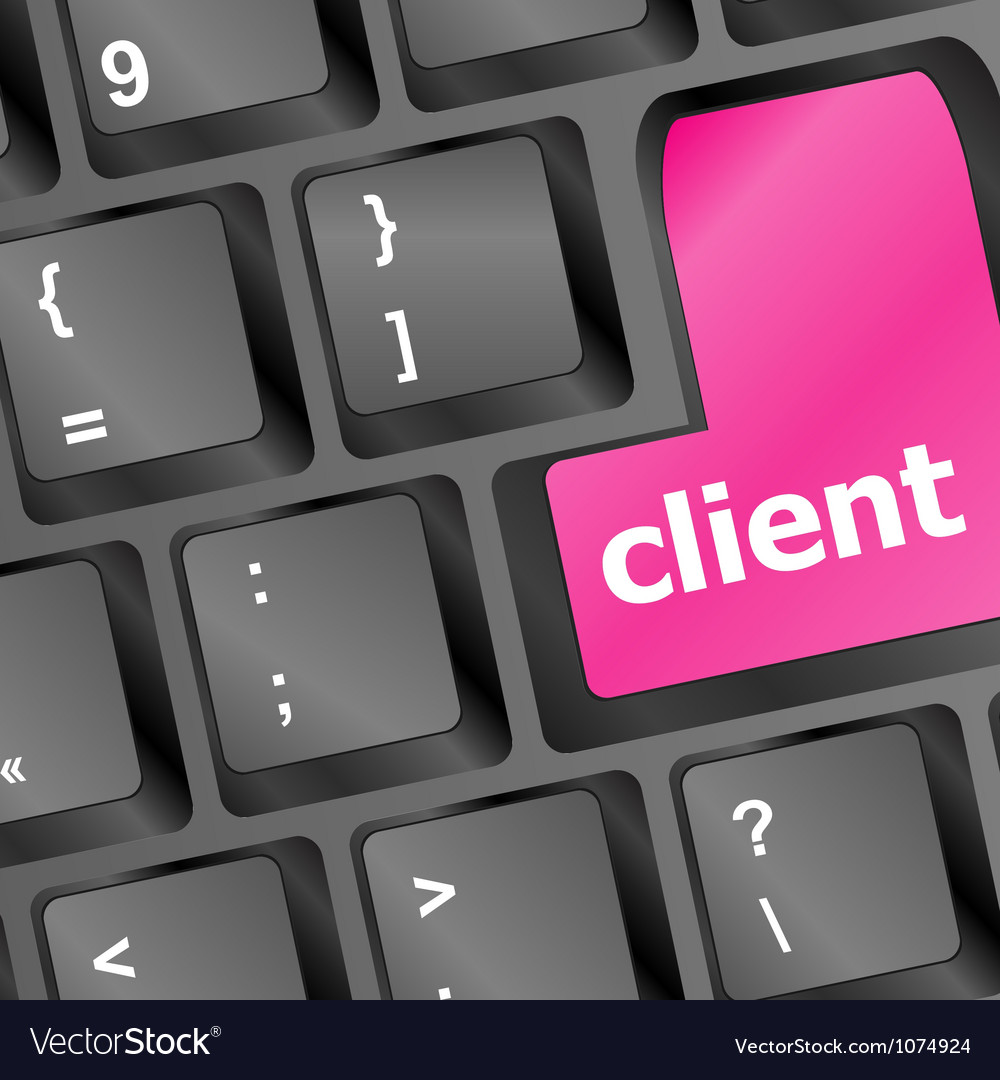 Client key in place of enter key - business vector | Price: 1 Credit (USD $1)