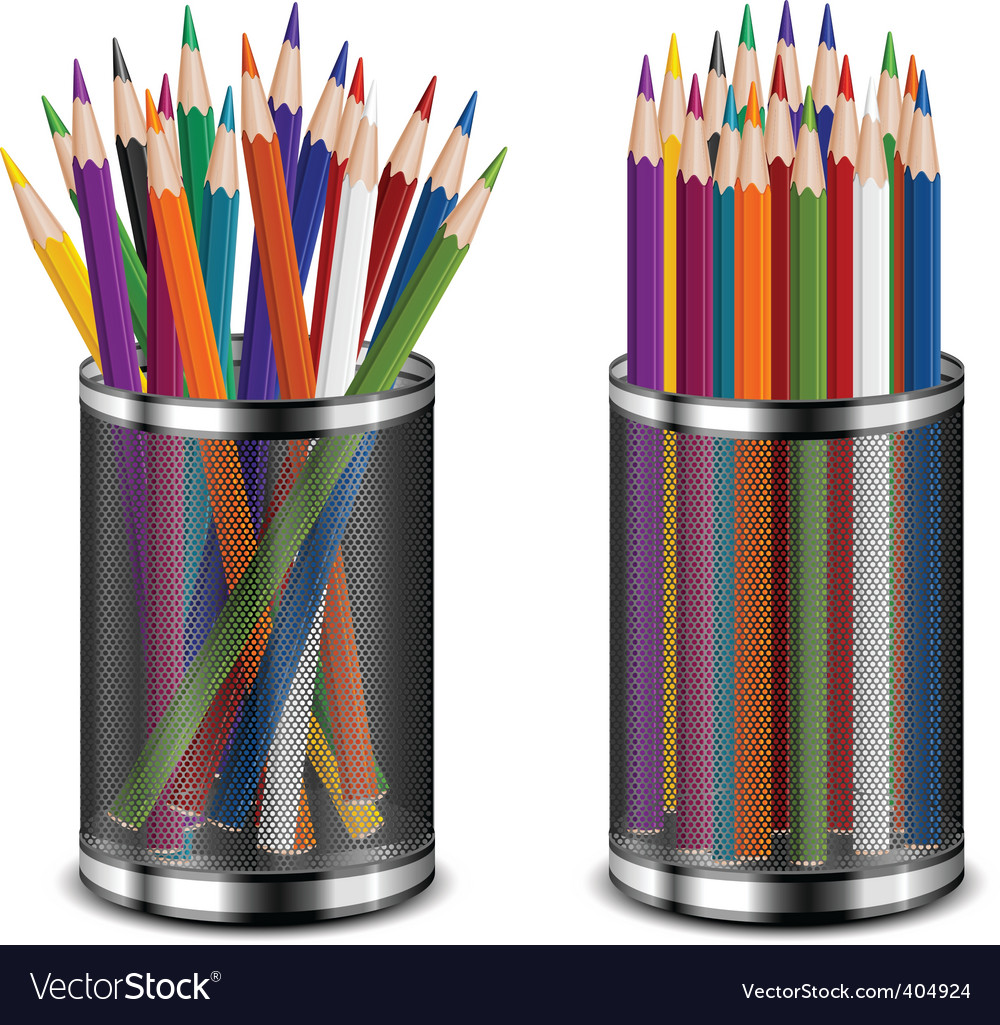 Color pencils in support vector | Price: 1 Credit (USD $1)