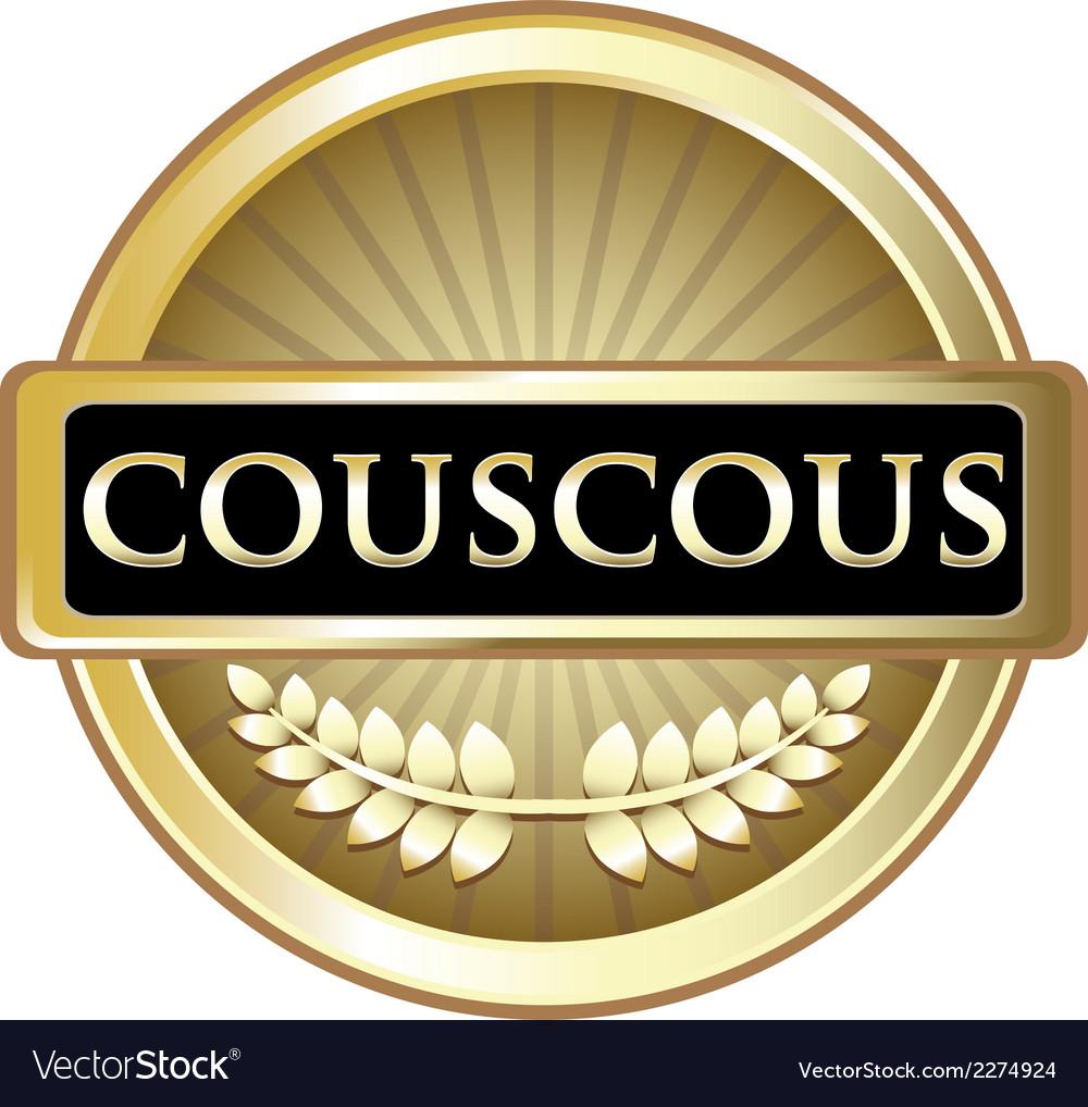 Couscous gold label vector   Price: 1 Credit (USD $1)