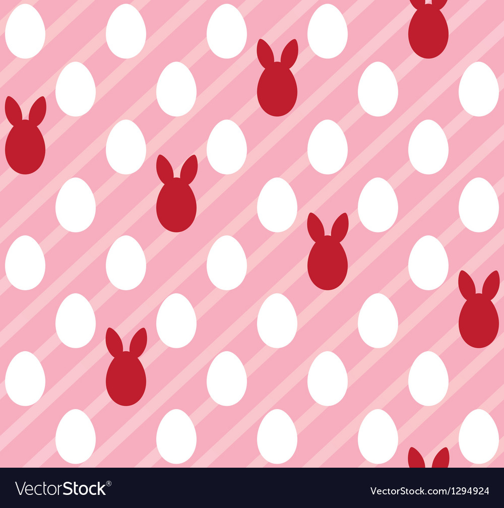 Easter eggs seamless pink texture rabbit ears vector | Price: 1 Credit (USD $1)