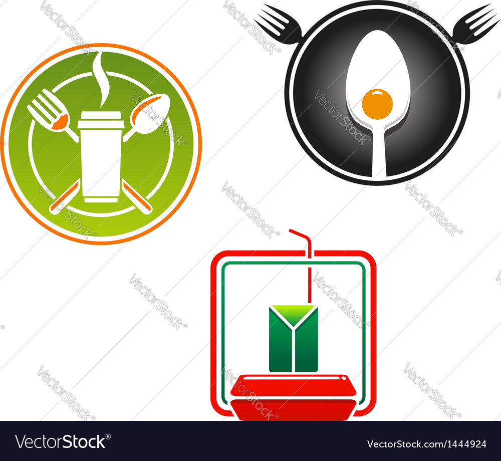 Fast food emblems and symbols vector | Price: 1 Credit (USD $1)