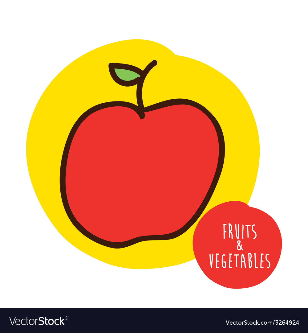 Fruits cute design vector | Price: 1 Credit (USD $1)