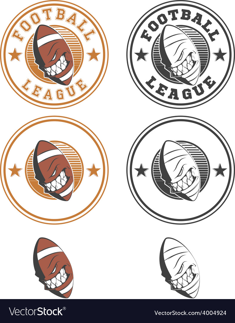 Set of football labels and badges vector | Price: 1 Credit (USD $1)