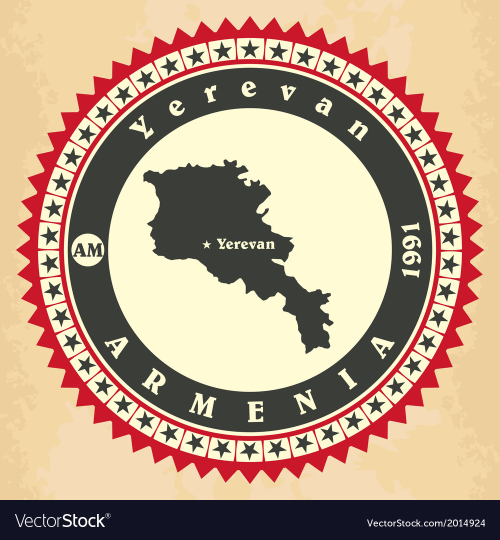 Vintage label-sticker cards of armenia vector | Price: 1 Credit (USD $1)