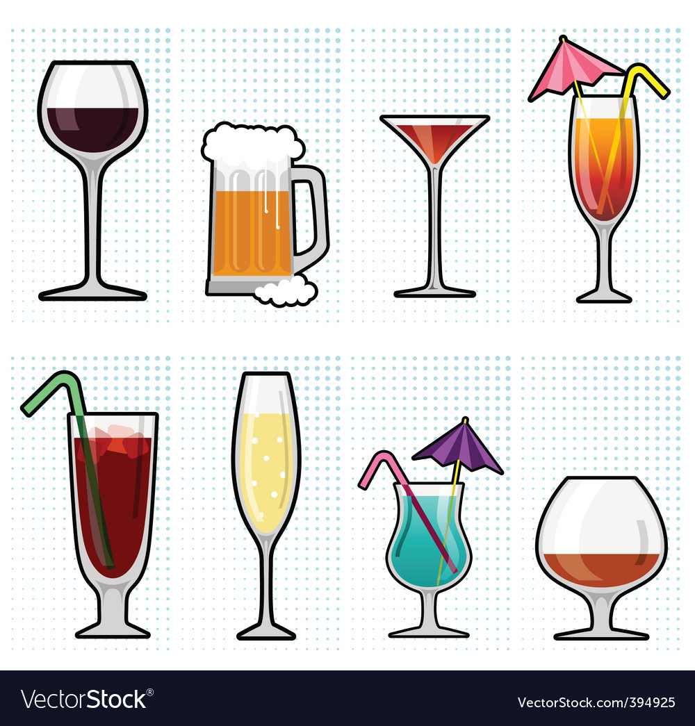 Alcohol glass vector | Price: 1 Credit (USD $1)