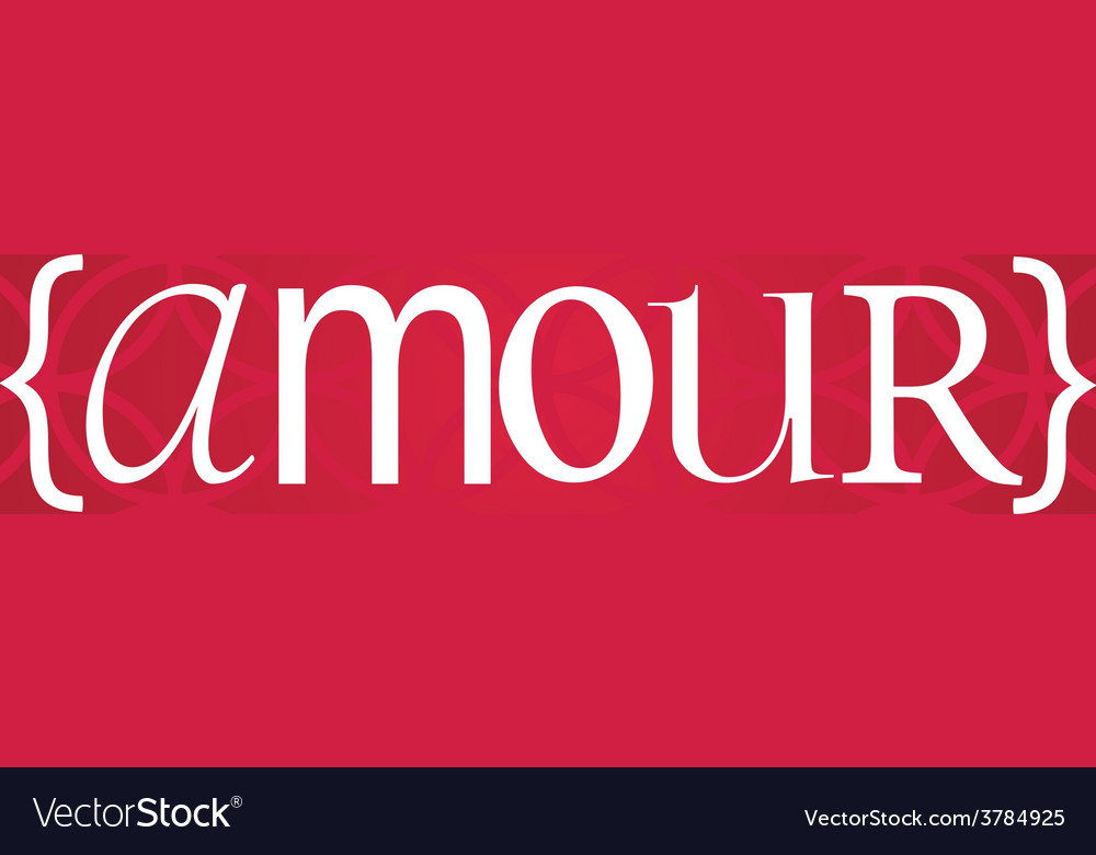 Amour word vector | Price: 1 Credit (USD $1)