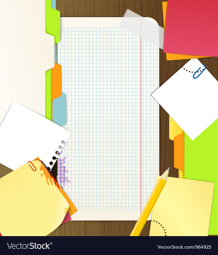Background of an office stuff vector | Price: 1 Credit (USD $1)