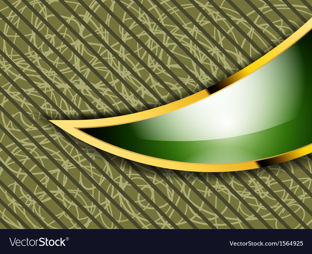 Beautiful bright green and gold frame abstract vector | Price: 1 Credit (USD $1)