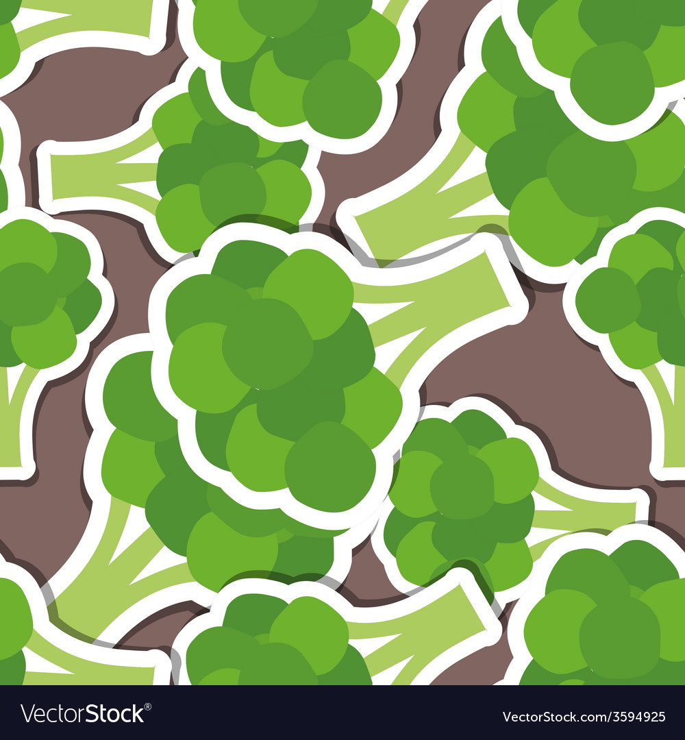 Broccoli pattern seamless texture vector | Price: 1 Credit (USD $1)