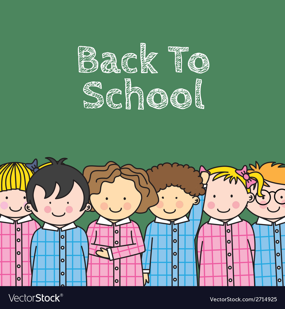 Children in school vector | Price: 1 Credit (USD $1)