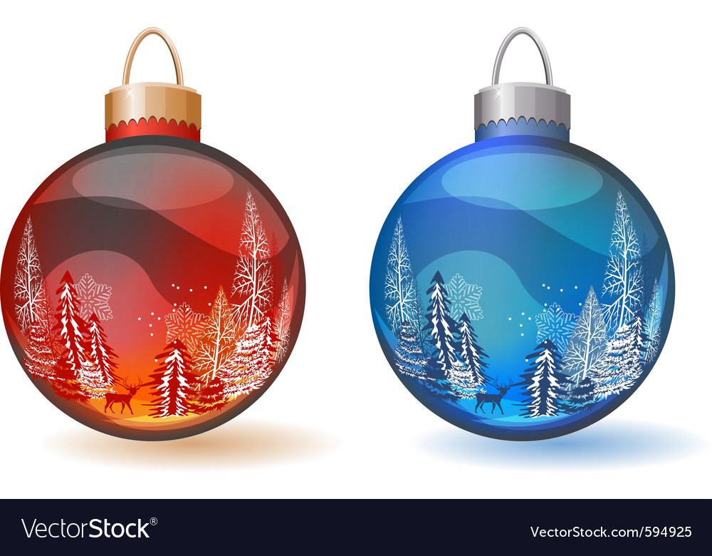 Christmas glass balls vector | Price: 1 Credit (USD $1)