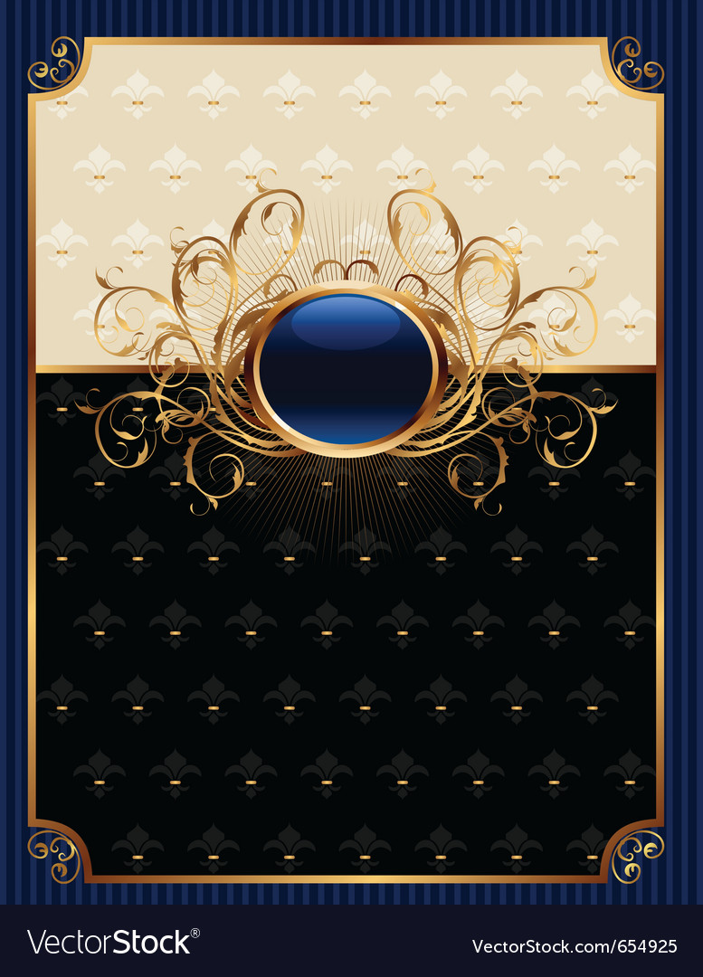 Gold invitation frame or packing for elegant desig vector | Price: 1 Credit (USD $1)