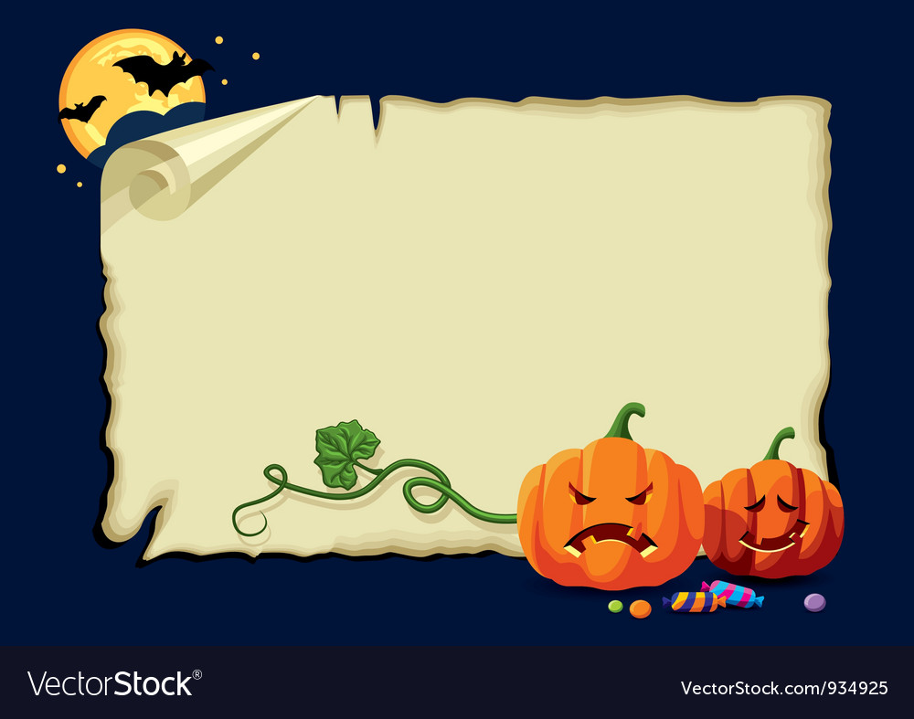 Halloween card no gradients vector | Price: 3 Credit (USD $3)