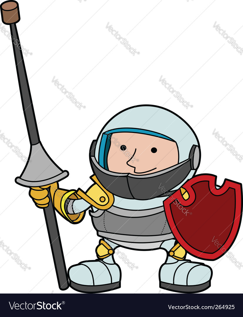 Knight in armour vector | Price: 1 Credit (USD $1)