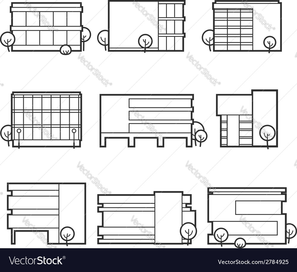 Office building icons vector | Price: 1 Credit (USD $1)