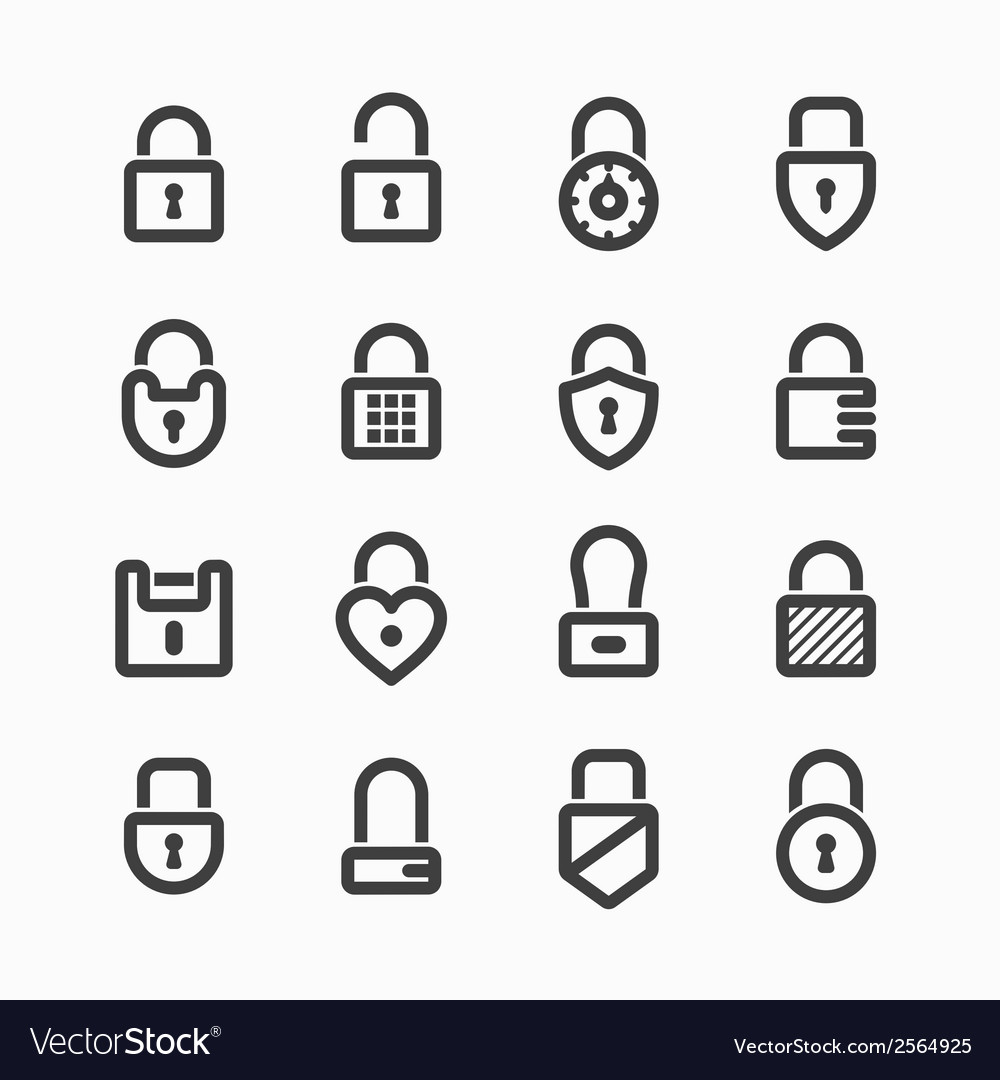 Padlock icons vector | Price: 1 Credit (USD $1)