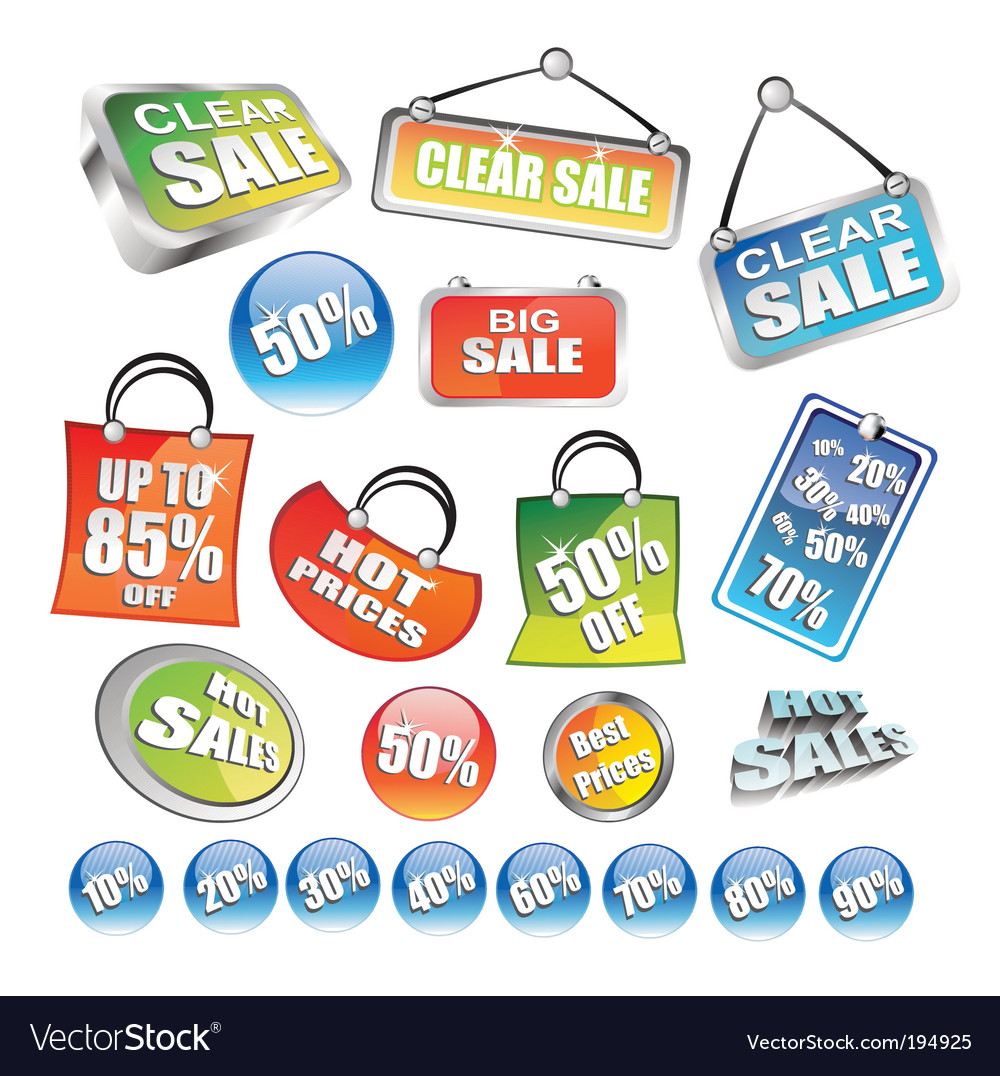 Price tag icons vector | Price: 3 Credit (USD $3)