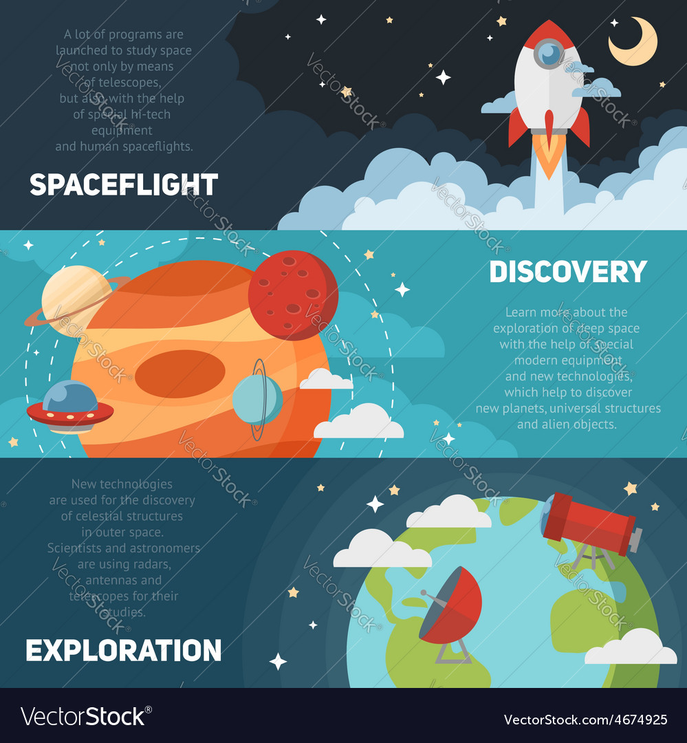 Space theme banners and cards vector | Price: 1 Credit (USD $1)