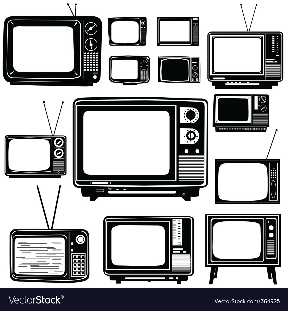 Television old style vector | Price: 1 Credit (USD $1)