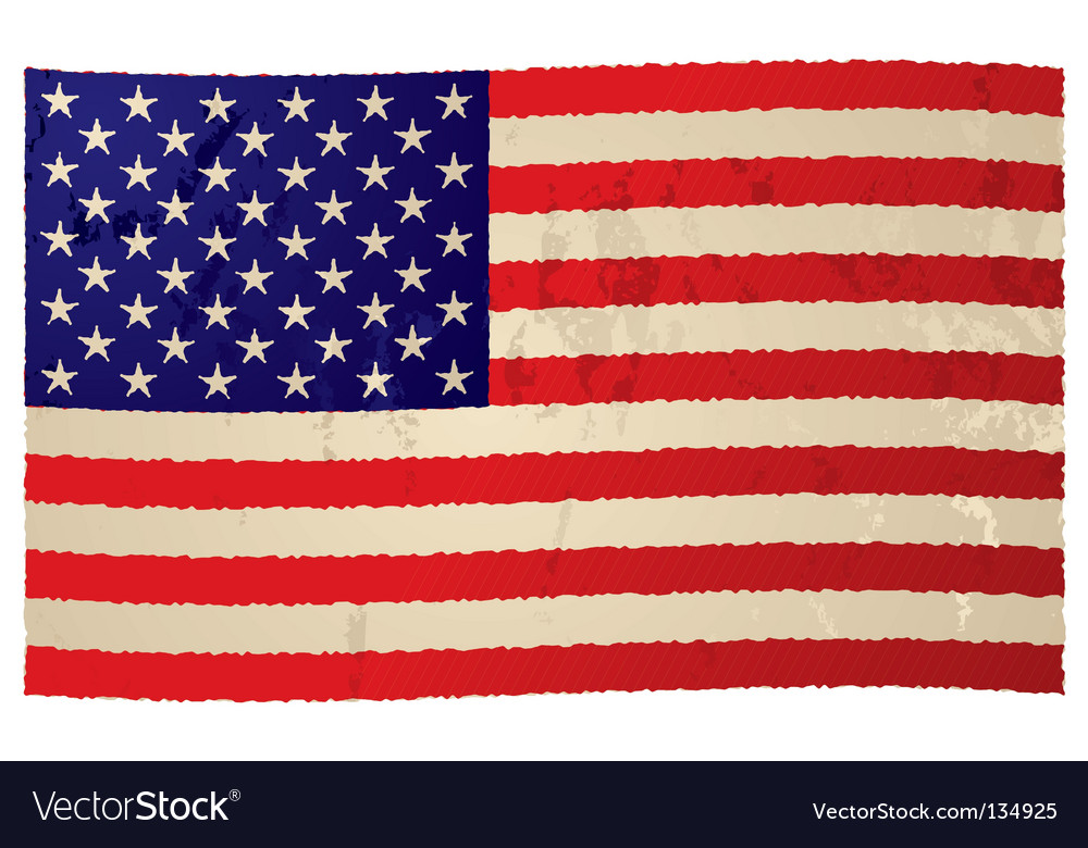 Usa flag grunge flag vector | Price: 1 Credit (USD $1)