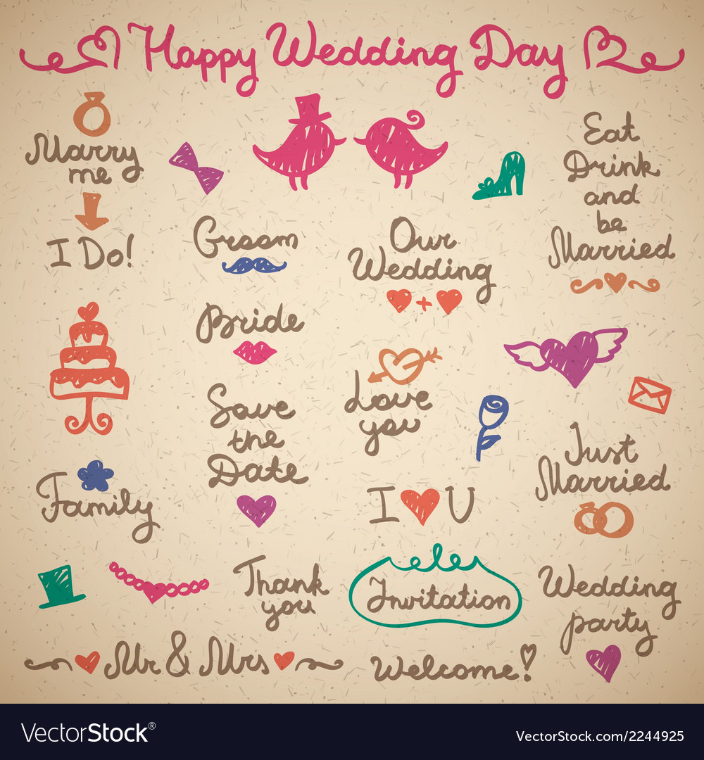 Wedding letterings vector | Price: 1 Credit (USD $1)