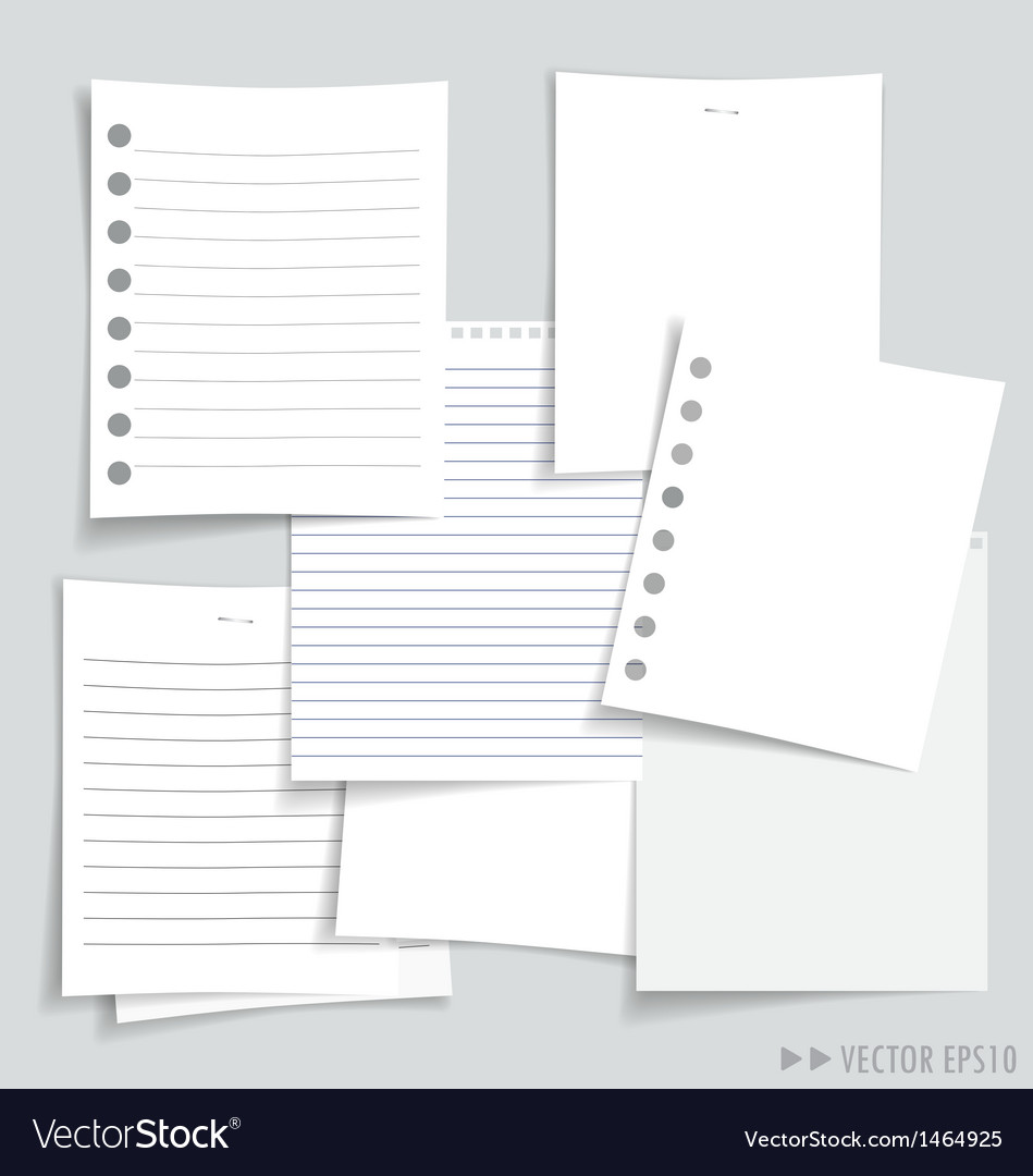 White papers collection vector | Price: 1 Credit (USD $1)
