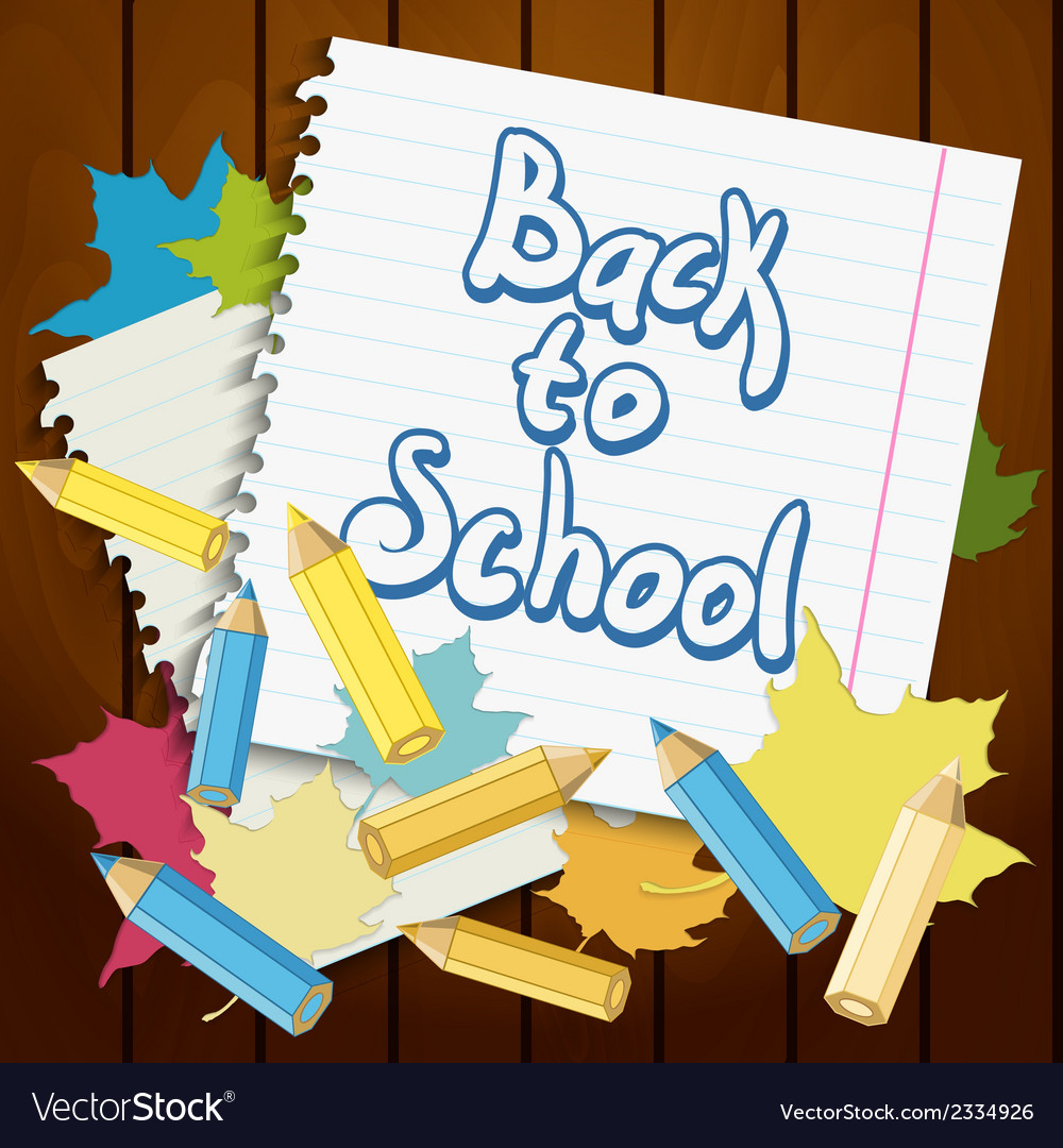 Back to school design element vector | Price: 1 Credit (USD $1)