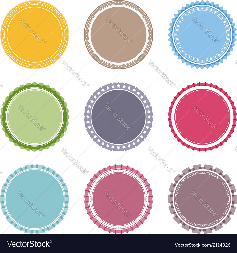 Blank round labels vector | Price: 1 Credit (USD $1)