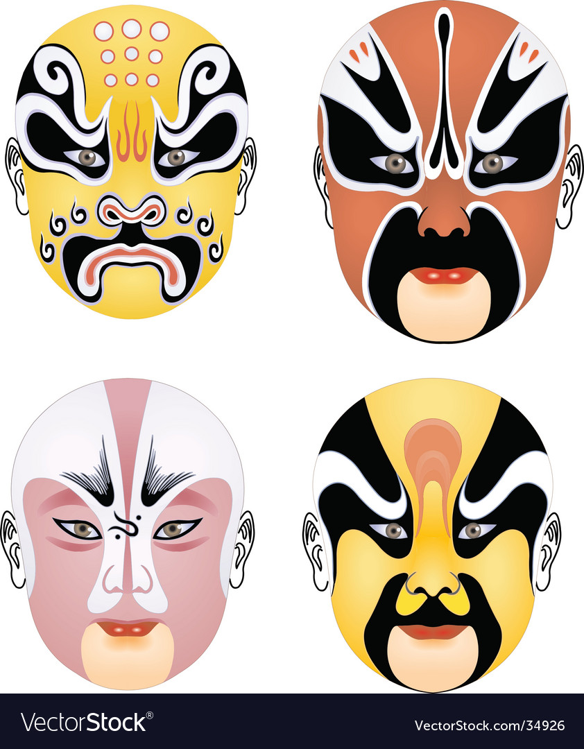 China mask vector | Price: 1 Credit (USD $1)