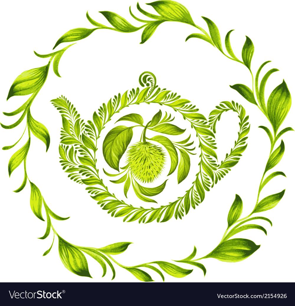 Decorative ornament herbal circle vector | Price: 1 Credit (USD $1)