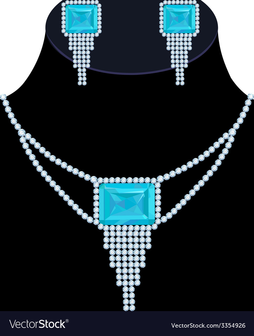 Diamond necklace vector | Price: 1 Credit (USD $1)