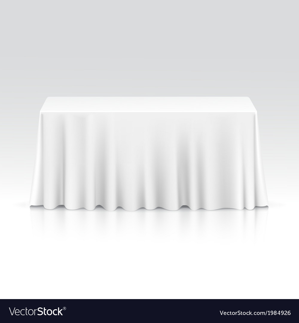 Empty rectangular table with tablecloth vector | Price: 1 Credit (USD $1)