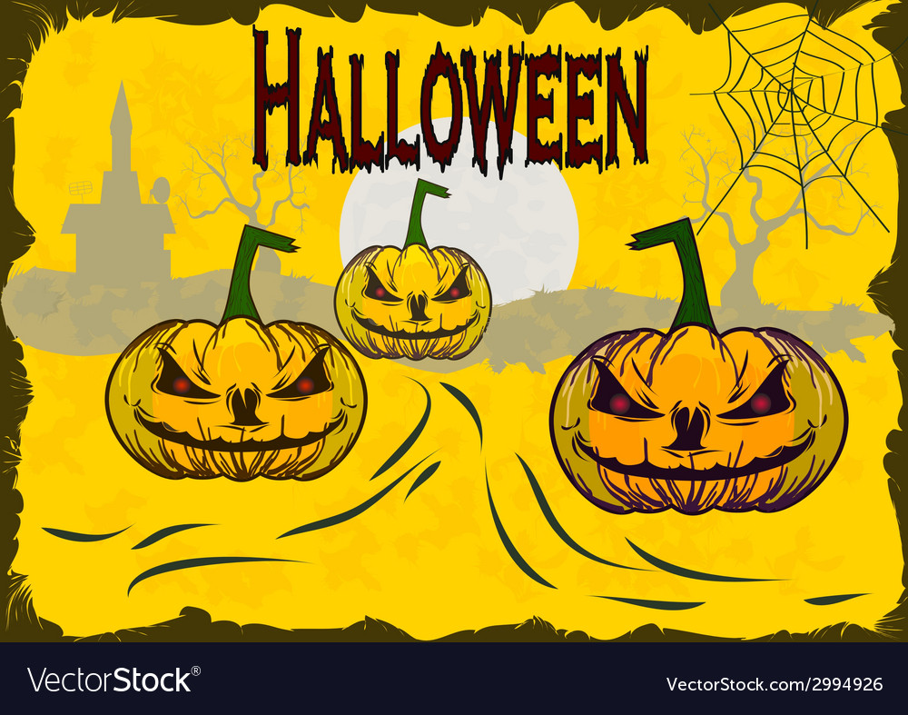 Halloween holiday that everyone is waiting for and vector | Price: 1 Credit (USD $1)