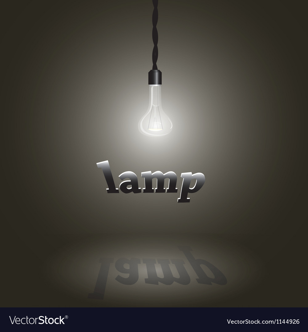 Image of a lamp vector | Price: 1 Credit (USD $1)
