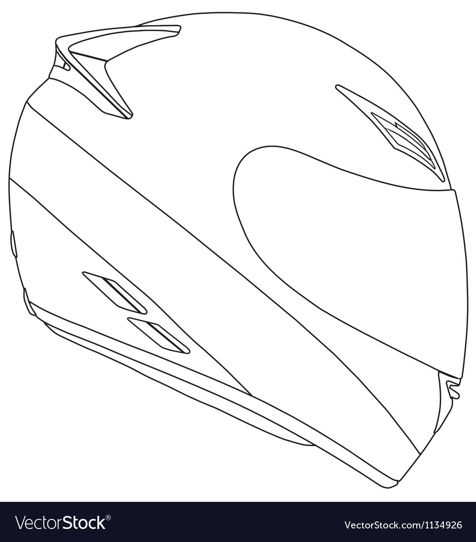 Motorbike racing helmet vector | Price: 1 Credit (USD $1)