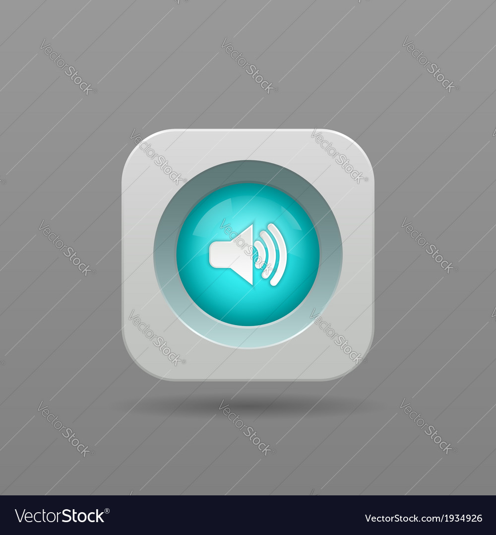 Speaker button vector | Price: 1 Credit (USD $1)