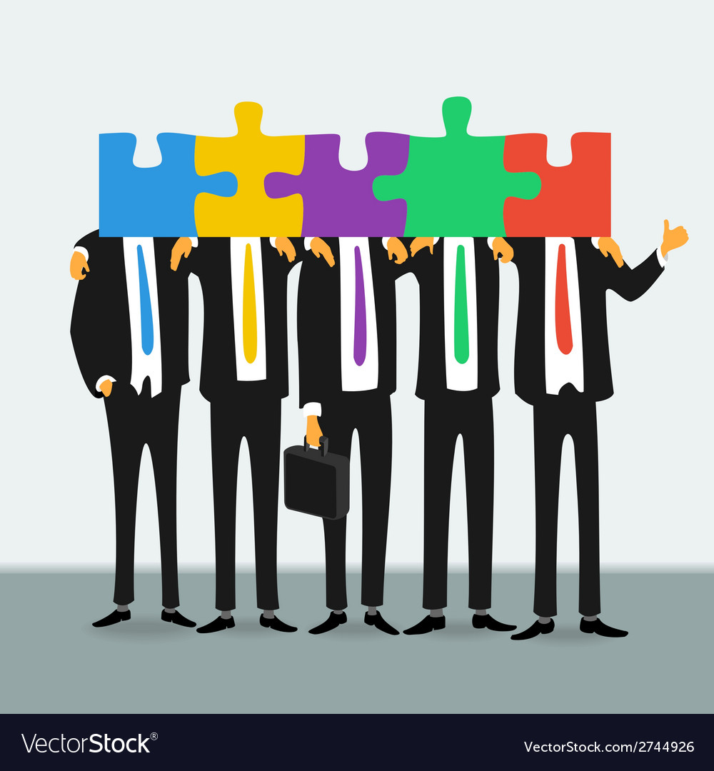 Team of successful business people vector | Price: 1 Credit (USD $1)