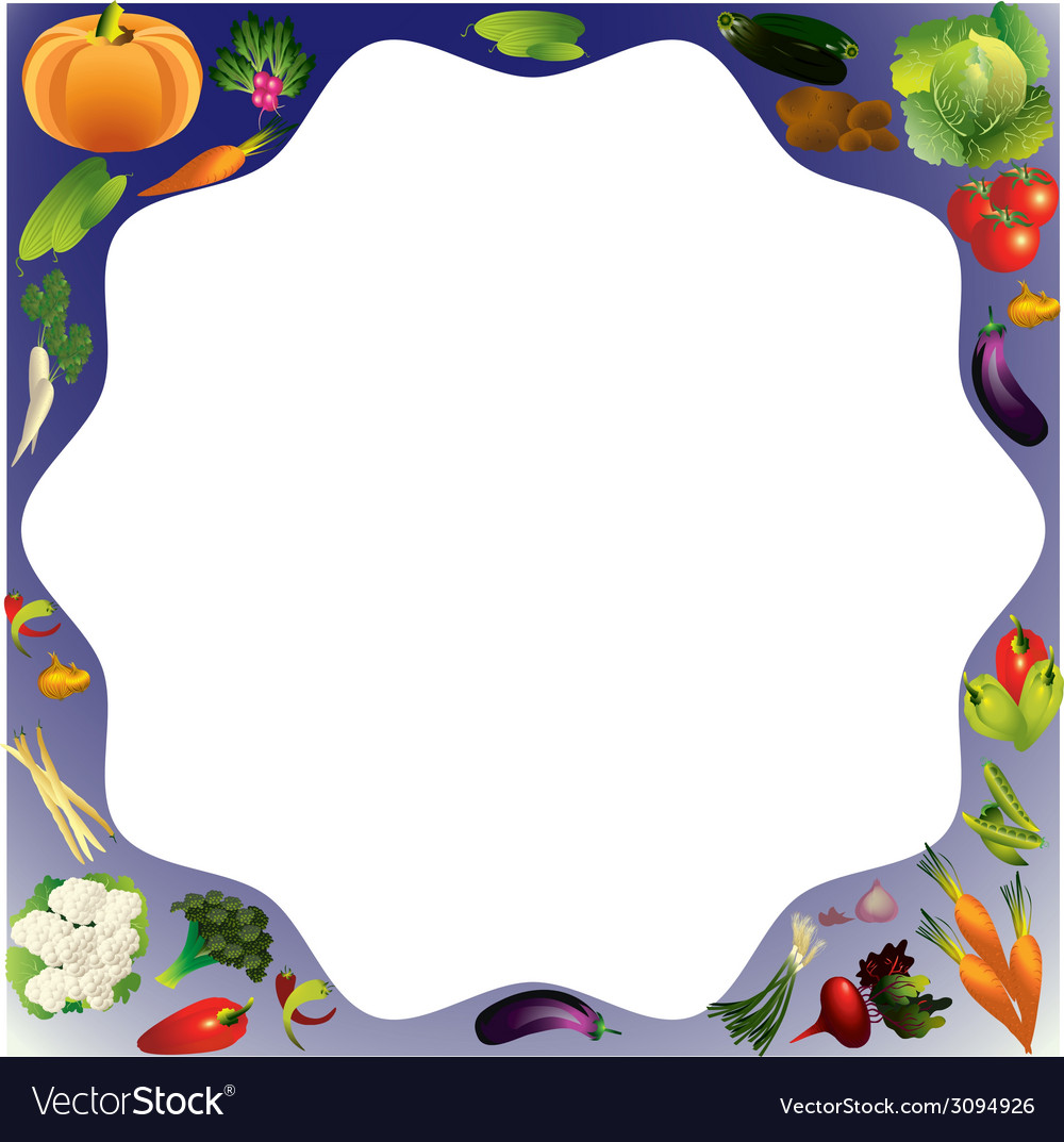 Vegetables background with place for text healthy vector | Price: 1 Credit (USD $1)
