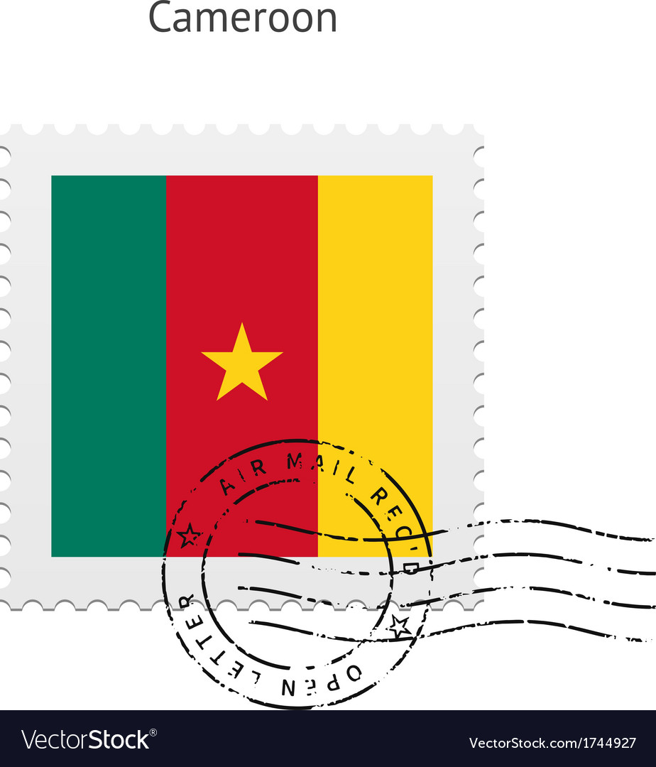 Cameroon flag postage stamp vector   Price: 1 Credit (USD $1)