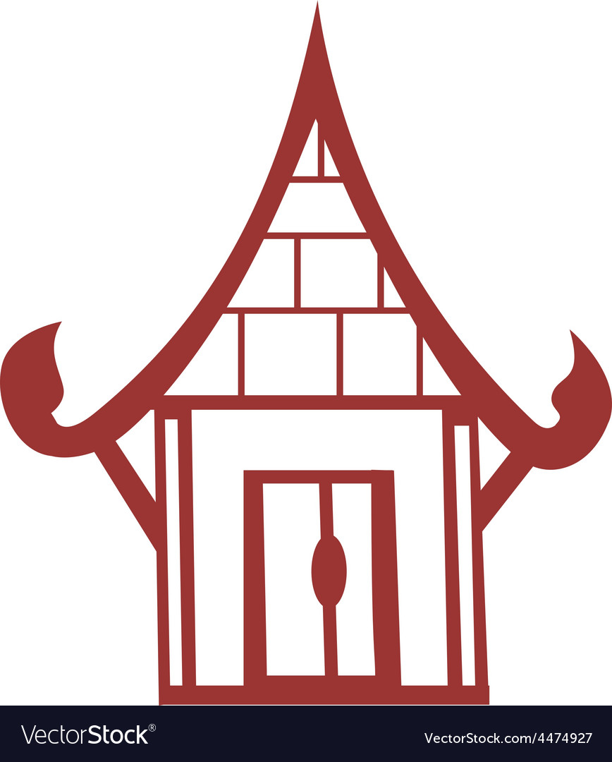 Chinese house vector | Price: 1 Credit (USD $1)